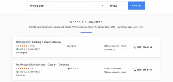 Google Services Plumber Philadelphia